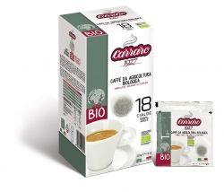 Подове Carraro BIO кафе 18х7 гр. доза 100% Арабика