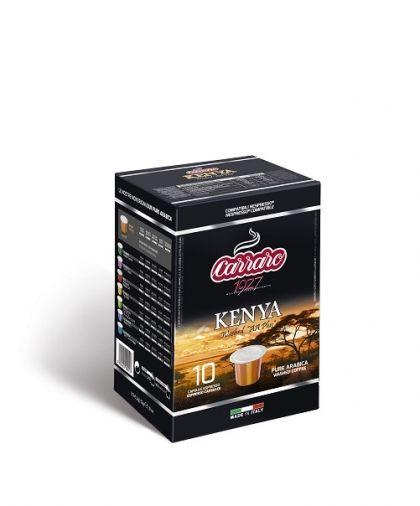 Carraro Капсули кафе Monorigin Kenya 10х5.2гр (съвместими с Неспресо)