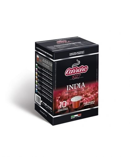 Carraro Капсули кафе Monorigin India 10х5.2гр (съвместими с Неспресо)