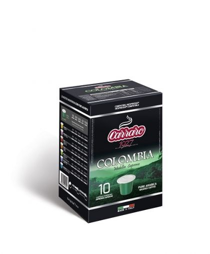Carraro Капсули кафе Monorigin Colombia 10х5.2гр (съвместими с Неспресо)