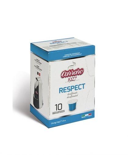 Carraro Капсули безкофеиново кафе Respect 10х5.2гр (съвместими с Неспресо)