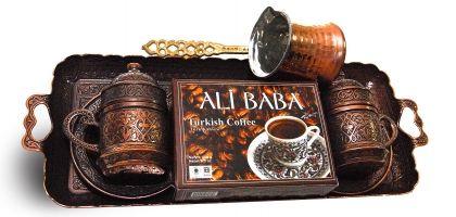 Турско кафе 100гр. с поднос, 2 чаши и джезве
