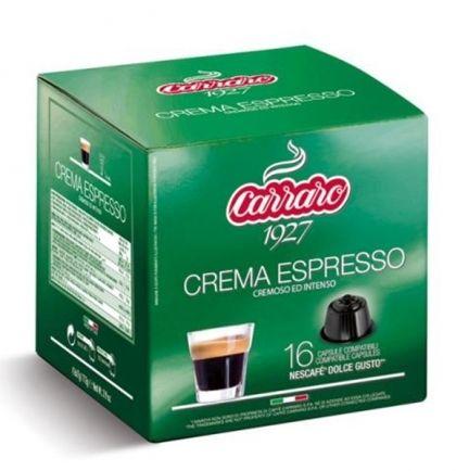 Carraro Капсули кафе Crema Espresso 16x7г. (съвместими с Долче Густо)