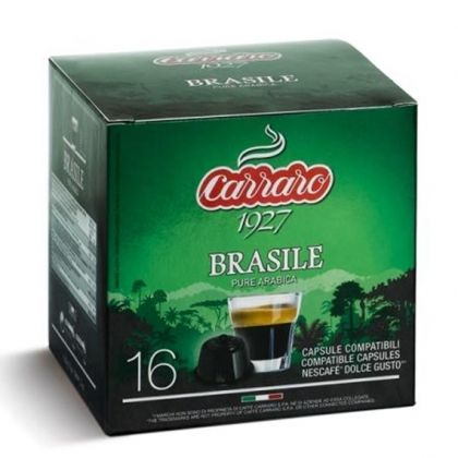 Carraro Капсули Single Origin Brasile 16x7г. (съвместими с Долче Густо)