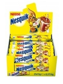 Какао Nesquik Plus стик 25 бр. x 15 гр. (кутия)