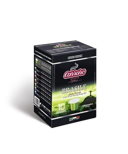 Carraro Капсули кафе Monorigin Brasile 10х5.2гр (съвместими с Неспресо)