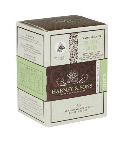 Органичен зелен чай с цитрус и гинко | Wrapped sachets - Harney&Sons