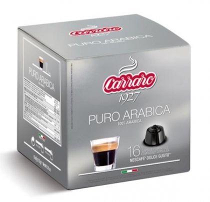 Carraro Капсули кафе Puro Arabica 16x7г. (съвместими с Долче Густо)