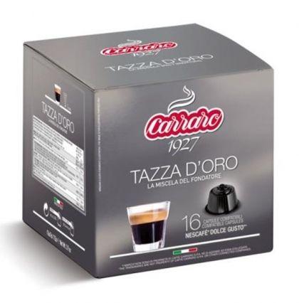 Carraro Капсули кафе Tazza d'Oro 16x7г. (съвместими с Долче Густо)