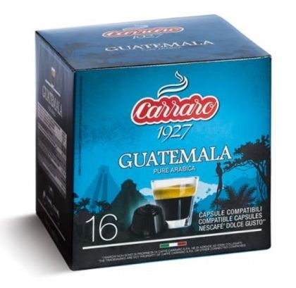 Carraro Капсули Single Origin Guatemala 16x7г. (съвместими с Долче Густо)